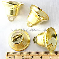 Колокольчики металлические (большие) d=25мм  (ЦЕНА ЗА 10шт). Цвет - золото