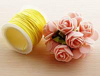 Шнур синтетический жёлтый (1мм) - 3 метра (товар при заказе от 200 грн)