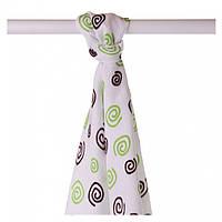 Бамбуковые пеленки XKKO® вмв коллекция Спиральки и шарики 90х100