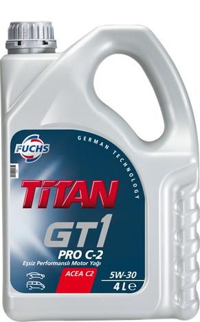 Моторное масло FUCHS TITAN GT 1 PRO C-2 5W30 4L для автомобиля синтетика