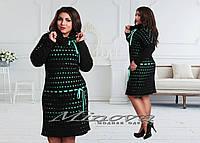 Платье женское вязка с бантиками