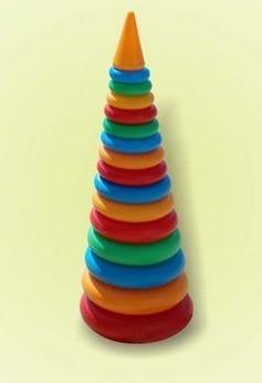 Пирамидка конус №2, 34 см