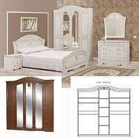Спальня Луиза патина комплект 5Д белое дерево   Світ Меблів