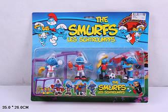"Футбол  09192  ""The Smurfs, les schtroumpfs"" Фигурки смурфиков - 4 штуки"