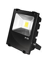 LED Прожектор EUROELECTRIC COB черный с радиатором 10W 6500K modern