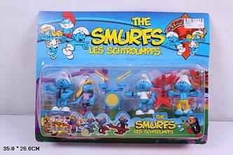 """Музыканты 09192A  """"The Smurfs, les schtroumpfs"""" Фигурки смурфиков - 4 штуки"""