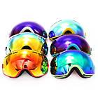 Очки лыжные двойная незапотевающая линза, фото 3