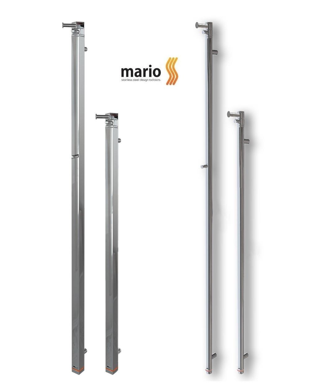 Полотенцесушитель электрический MARIO Ray - I (Рей)  1500 x 30/130 (круглый)