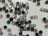 Стразы 3 мм клеевые (термостразы) с радужным переливом, упаковка 100 шт.