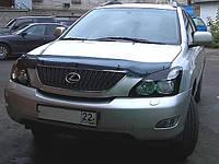 Дефлектор капота (мухобойка) LEXUS/HARRIER RХ300 2003-2009 темные
