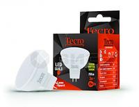 LED светодиодная лампа TL-MR16 3W, теплое, 250Лм, GU5.3 кут 120°