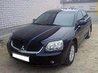 Дефлектор капота (мухобойка) Mitsubishi Galant  2003-2008 /до ресталинга