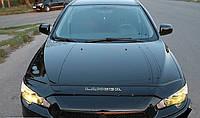 Дефлектор капота (мухобойка) Mitsubishi Lancer 2007-