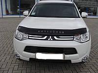 Дефлектор капота (мухобойка) Mitsubishi Outlander 2012-