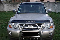 Дефлектор капота (мухобойка) Mitsubishi Pajero Wagon III 1998-2006