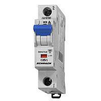 Автоматический выключатель BM 4.5кА 1P 25А х-ка C 30°С Schrack Technik