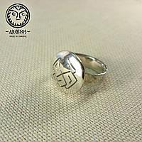 Кольцо-оберег с солярным символом