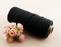 Синтетическая чёрная нить швейная (1мм) - 3 метра