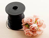 Нить синтетика чёрная для шамбалы (1 мм) - 3 метра