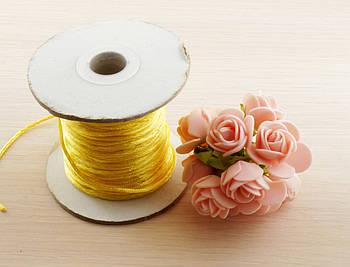 Шнур синтетика жёлтый (2 мм) - 3 метра