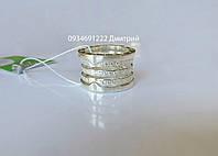 Серебряное кольцо BVLGARI с камнями