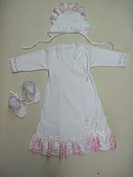 Платье крестильное интерлок с кружевом