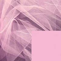 Фатин жесткий -  цвет розовый