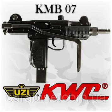 Пневматический пистолет KWC Uzi KMB-07 HN Blowback Узи автоматический огонь блоубэк
