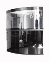 Подставка аквариумная Акватика Угловой Овал 112х112х74
