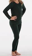 Детское термобелье с шерстью для девочки зеленого цвета, фото 1