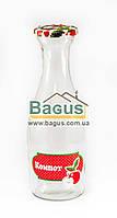 """Бутылка стеклянная с крышкой 1 л """"Компот-Яблоко"""" Everglass (10016)"""