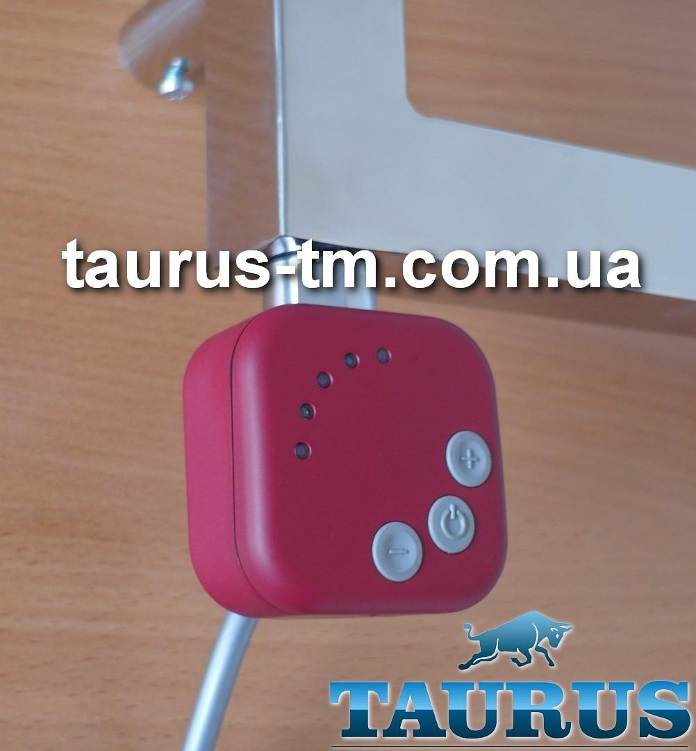 Красный ТЭН HeatQ red квадратной формы. Регулятор 30-60С + таймер 2 ч. +LED-подсветка (Польша); Поворотный 1/2