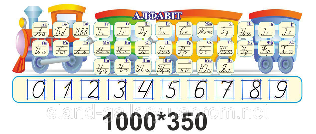 """Стенд для начальных классов """"Алфавит и шкала цифр"""""""