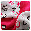 Бамбуковые салфетки  XKKO® вмв коллекция Спиральки и шарики 30х30