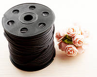 Шнур замшевый серый  (3 мм) - 1 метр