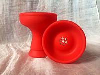 Силиконовая средняя чаша для кальяна - Красная