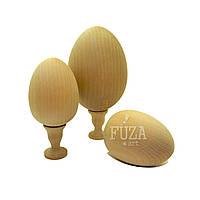 Яйцо деревянное среднее, 6,5х8,5 см, без подставки