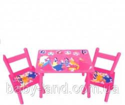 Столик со стульчиками детский Принцессы Bambi M 1109
