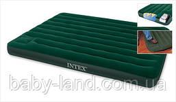 Матрас-кровать надувной cо встроенным насосом Intex 66929