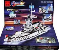 Конструктор детский Военный корабль  BRICK 113