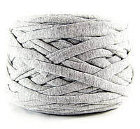 Трикотажная пряжа Серый меланж, 85 м