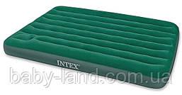 Матрас-кровать велюровый надувной cо встроенным ножным насосом Intex 66928