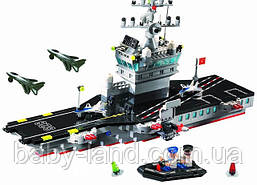 Конструктор детский 508 деталей Корабль Авианосец BRICK 826
