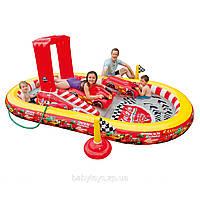 Игровой центр детский Тачки надувной с горкой душем и плотиками Intex 57134
