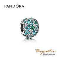 Pandora шарм Pave ВСЕ КРАСКИ ОКЕАНА #791261MCZMX серебро 925 цирконий Пандора оригинал