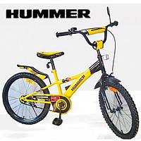 Велосипед детский двухколесный 20 дюймов Хаммер желтый 112002