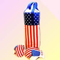 Боксерский набор детский Груша средняя Американская с перчатками  ПР 11305