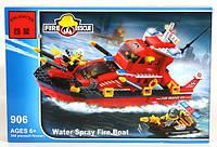 Конструктор детский 340 деталей Пожарная тревога BRICK 906