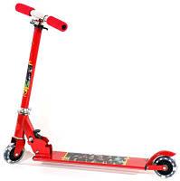 Самокат детский двухколесный металлический колеса со светом JR 2-014