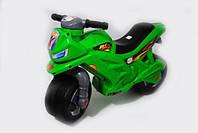 Каталка толокар детский Мотоцикл пластмассовый двухколесный зеленый Орион 501